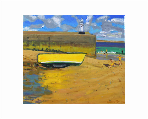 Yellow Boat, St Ives, 2017 by Andrew Macara