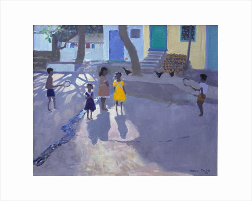 The yellow dress, Udaipur, India, 1990 by Andrew Macara