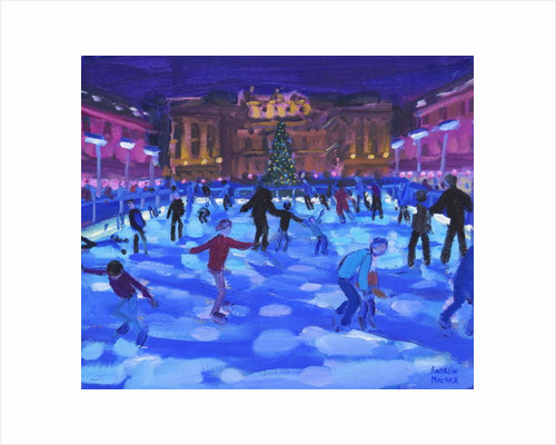 Evening skaters, Somerset House, 2015 by Andrew Macara