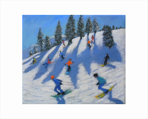 Skiers, Lofer by Andrew Macara