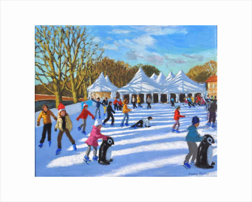 Bright morning, Hampton Court Palace Ice Rink, London, 2018 by Andrew Macara