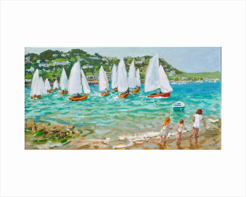 Chasing the boats, Salcombe, 2018 by Andrew Macara