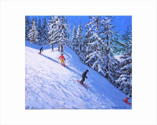 Steep slope, Les Arcs, France by Andrew Macara