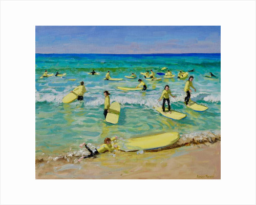 Summer surfing, St Ives by Andrew Macara
