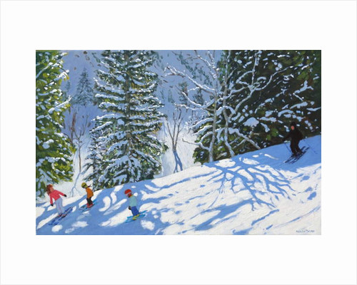 Skiing Courchevel to La Tania, 2019 by Andrew Macara