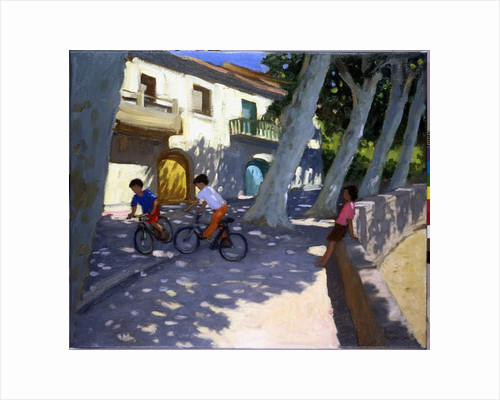 Boys and bikes, France by Andrew Macara