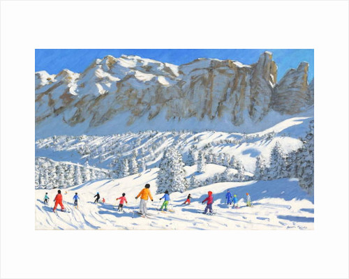 Colourful skiers,Val Gardena,Italy,2019 by Andrew Macara