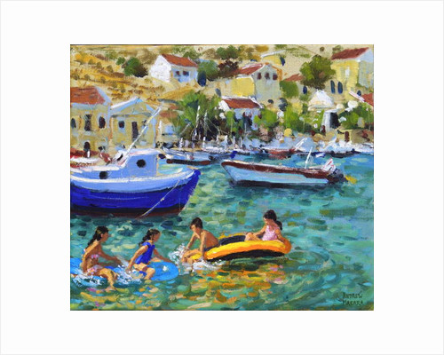 Fun in dinghies,Symi,Greece by Andrew Macara