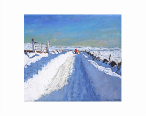 Snowploughed road,Derbyshire Peak District,2019 by Andrew Macara