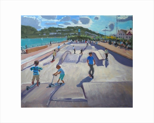 Skateboaders, Teignmouth by Andrew Macara