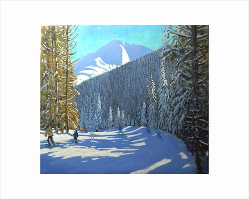 Skiing, Beauregard La Clusaz by Andrew Macara