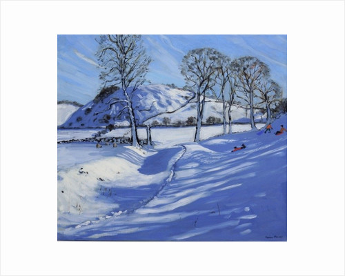 Sledging, Derbyshire Peak District by Andrew Macara