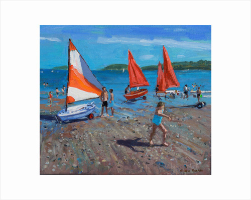 Red and White Sails, Abersoch by Andrew Macara