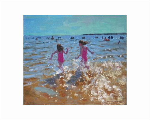 Splashing in the sea, Clacton by Andrew Macara