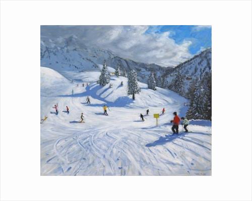 Skiing, Kitzbuhel by Andrew Macara