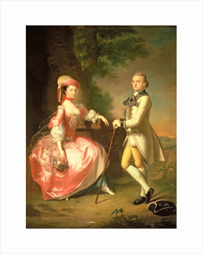 Sir John Pole, 5th Baronet, and his Wife, Elizabeth by Thomas Hudson