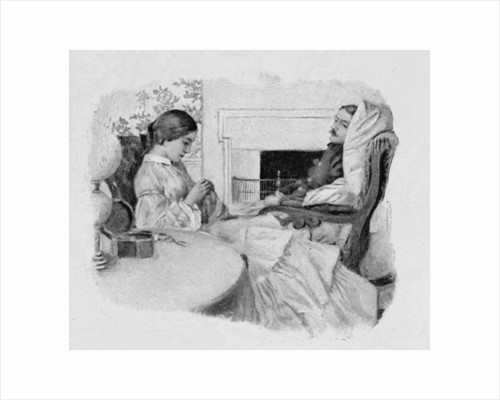 A Soldier Convalescing at Home by Howard Pyle
