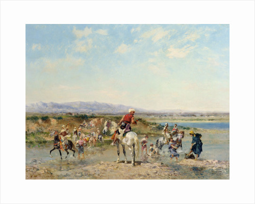 Arabs at an Oasis by Georges Washington
