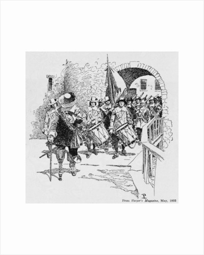 Stuyvesant Surrendering Fort Amsterdam to the English by Howard Pyle