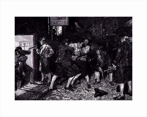 The Press Gang in New York by Howard Pyle