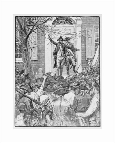 Alexander Hamilton Addressing the Mob by Howard Pyle