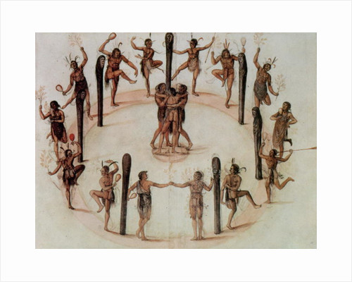 Indians Dancing by John White