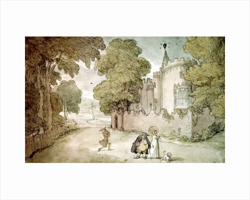 Strawberry Hill by Thomas Rowlandson