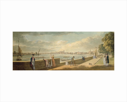 View towards Westminster from the Terrace of Somerset House by Paul Sandby