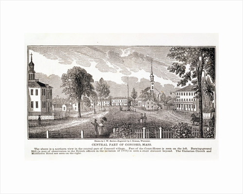 Central part of Concord by John Warner Barber