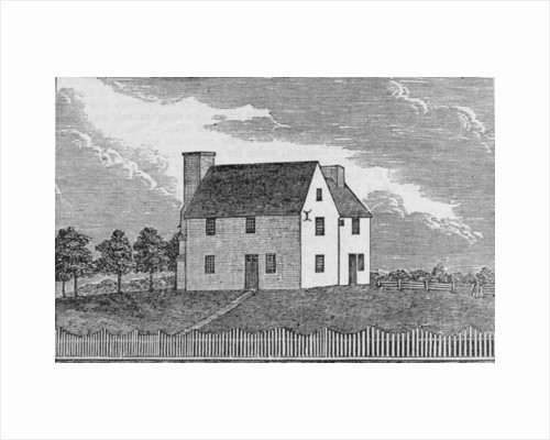 Ancient House at Guilford, Connecticut by American School