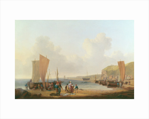 Merchant buying fish by William Anderson