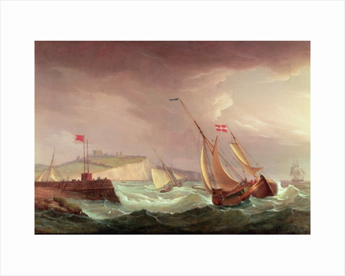 Shipping off Dover by Thomas Whitcombe