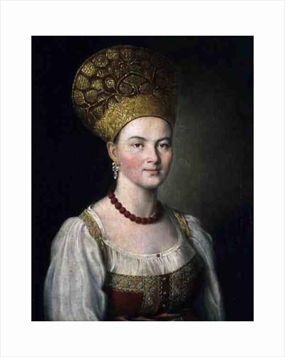Peasant Woman in Russian Costume by Ivan Petrovich Argunov