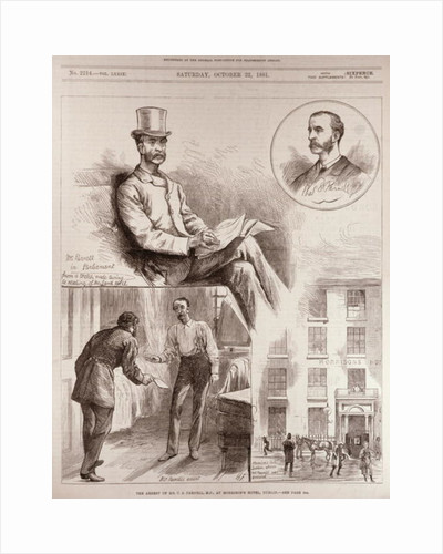 The Arrest of Mr. C.S. Parnell, MP, at Morrison's Hotel, Dublin by English School