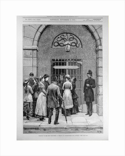 Waiting to See the Prisoners; A Sketch at Kilmainham Jail, Dublin by English School