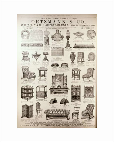 Advertisement for Oetzmann & Co. by English School