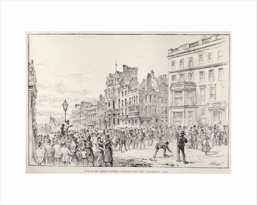 Riots in the West End of London: Mob in St. James's Street, Opposite the New University Club by English School