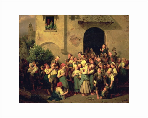 After School by Ferdinand Georg Waldmuller