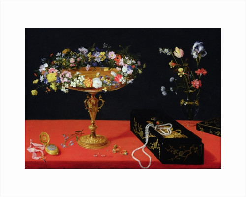 A Still Life of a Tazza with Flowers by Jan the Younger Brueghel