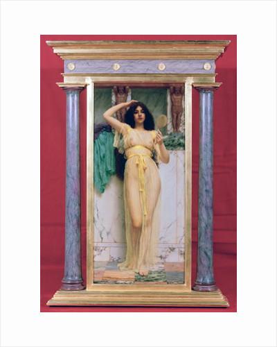 Girl with a Mirror by John William Godward