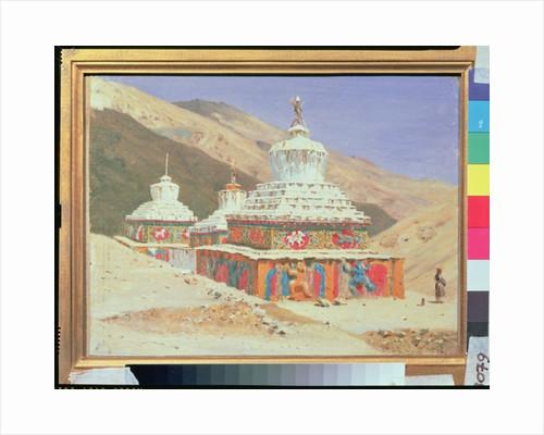 The Death Memorial in Ladakh by Vasili Vasilievich Vereshchagin