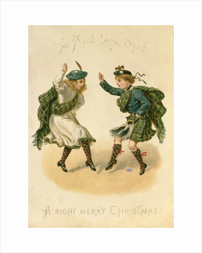 'For Auld Lang Syne - A Right Merry Christmas' by English School