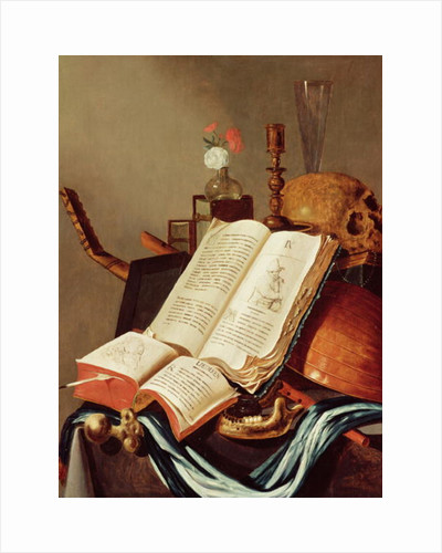 Vanitas Still Life by Edwaert Colyer or Collier