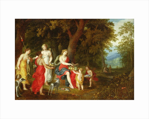 Diana and Her Maidens, after the hunt by A. & Balen