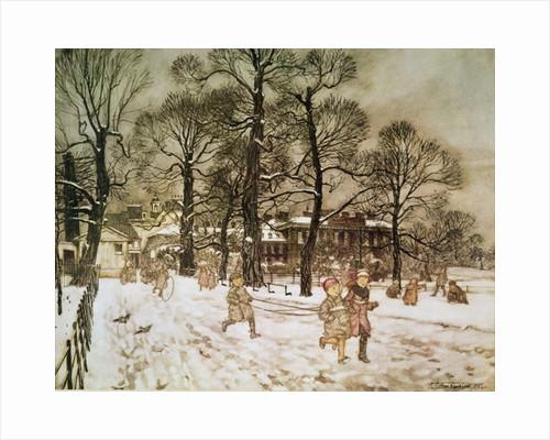 Winter in Kensington Gardens by Arthur Rackham