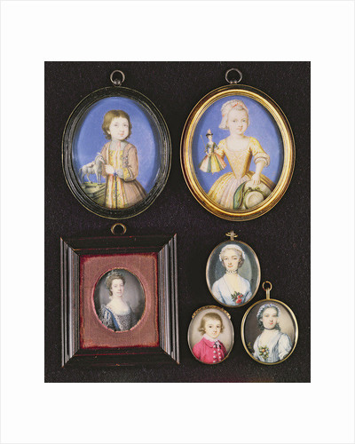 Portrait Miniatures by Bernard III Lens