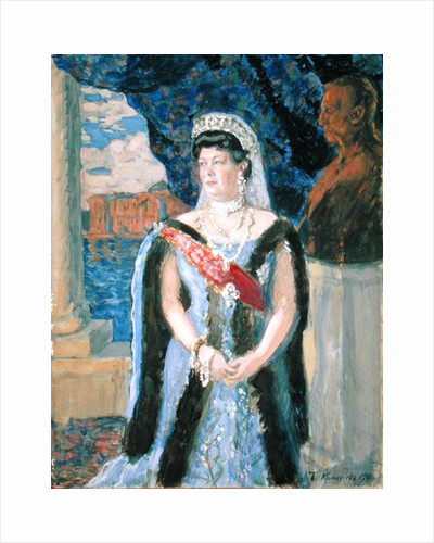 Portrait of the Grand Duchess Maria Pavlovna by Boris Mihajlovic Kustodiev