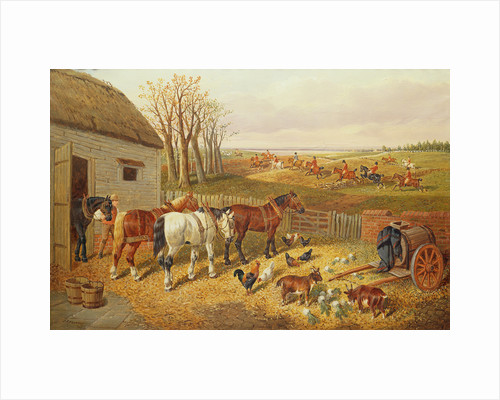 A Busy Farmyard by John Frederick Herring