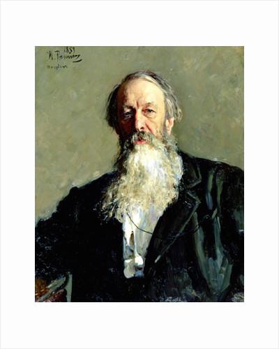 Portrait of Vladimir Stasov by Ilya Efimovich Repin