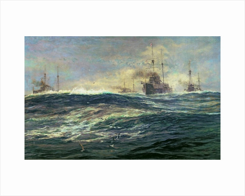 1st Battle Squadron of Dreadnoughts Steaming down the Channel in 1911 by William Lionel Wyllie